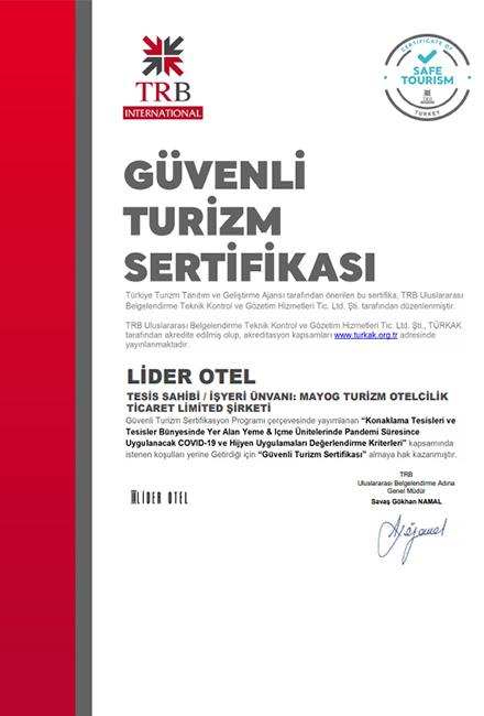 lider otel sertifika